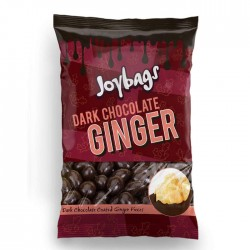 Joybags Dark Chocolate Ginger Bags | 12 x 150g