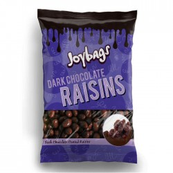 Joybags Dark Chocolate Raisins | 12 x 150g