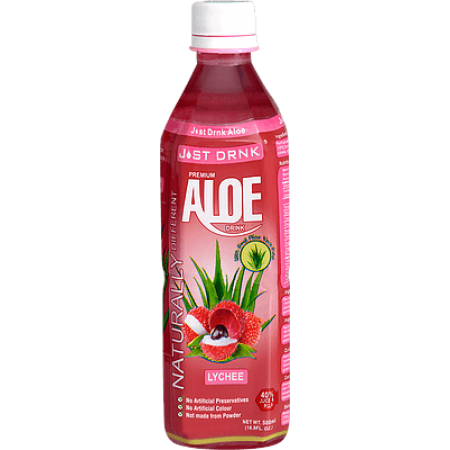 Just Drink Premium Lychee Aloe Drink 12 x 500ml