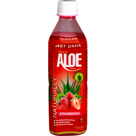 Just Drink Premium Strawberry Aloe Drink 12 x 500ml