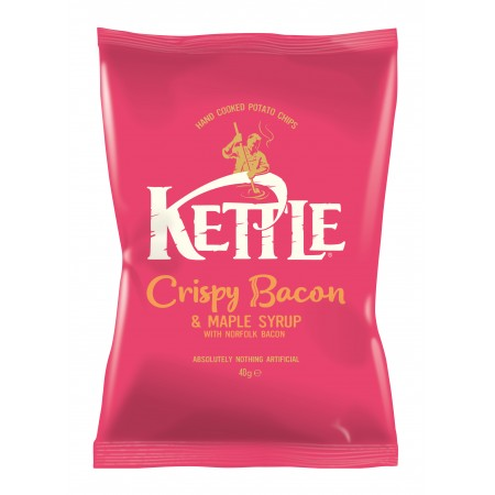 Kettle Chips | Crispy Bacon & Maple Syrup 18 x 40g