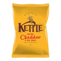 Kettle Chips | Mature Cheddar & Red Onion 18 x 40g