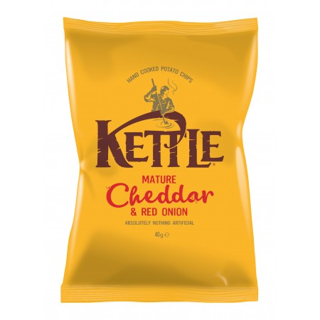 Kettle Chips   Mature Cheddar & Red Onion 12 x 150g