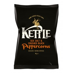 Kettle Chips | Sea Salt & Crushed Black Peppercorns 18 x 40g