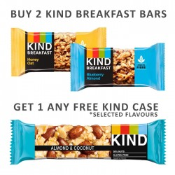 Buy 2 Kind Breakfast Bars & Get 1 Kind Core Case Free