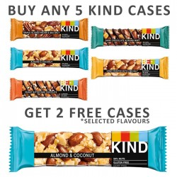 Buy Any 5 Kind bars & Get 2 Cases For Free