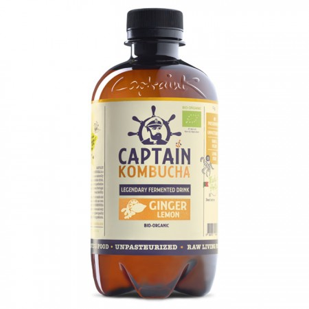 Captain Kombucha - Ginger & Lemon - 12 x 400ml