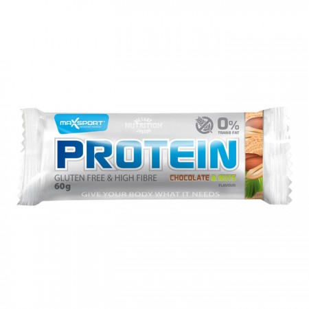 MaxSport Chocolate & Nuts Protein Bar 24 x 60g