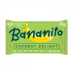 MightyBee Bananito Banana Bar Coconut Delight 24 x 35g