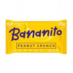 MightyBee Bananito Banana Bar Peanut Crunch 24 x 35g