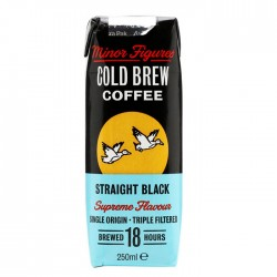 Minor Figures Cold Brew Coffee Straight Black - 10 x 250ml