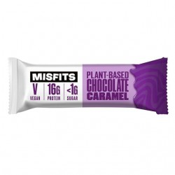 Misfits Vegan Chocolate Caramel Protein Bar (12 x 45g)