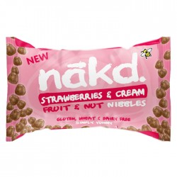 Nakd Nibbles - Strawberry & Cream Nibbles 18 x 40g