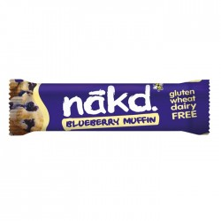 Nakd Blueberry Muffin Gluten Free Bar 18 x 30g