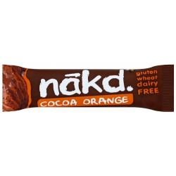 Nakd Cocoa Orange Gluten Free Bar 18 x 35g