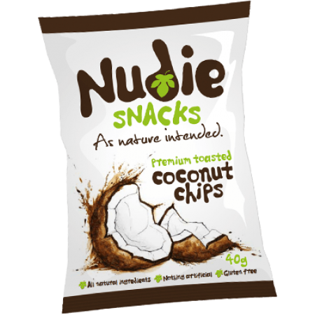 Nudie Premium Toasted Coconut Chips 12 x 40g