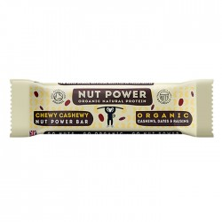 Nut Power  | Organic Natural Protein Bar Chewy Cashewy Flavour - 18 x 38g