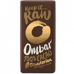 Ombar Raw Organic Chocolate - 100% Raw Cacao Bar 10 x 35g