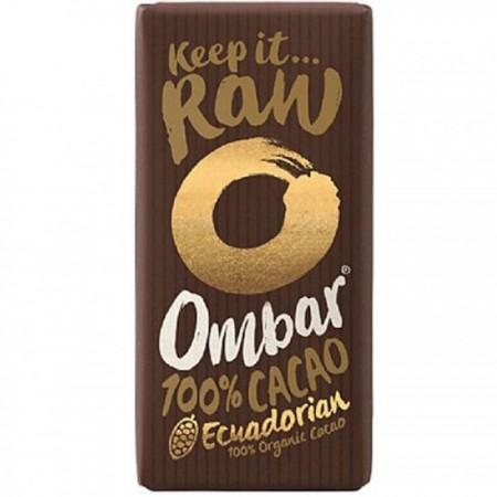 Ombar Raw Organic Chocolate - 100% Raw Cacao Bar 10 x 35g