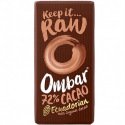 Ombar Raw Organic Chocolate - 72% Dark Chocolate  10 x 35g