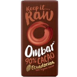 Ombar Raw Organic Chocolate - 90% Dark Chocolate  10 x 35g