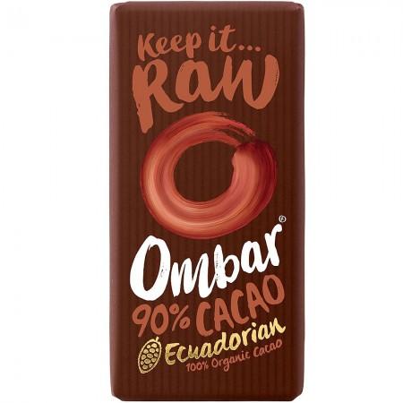 Ombar Raw Organic Chocolate - 90% Dark Chocolate  10 x 35g