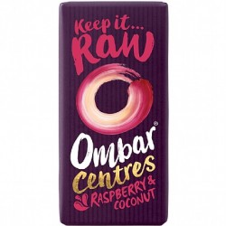 Ombar Raw Organic Chocolate - Raspberry & Coconut Chocolate 10 x 35g