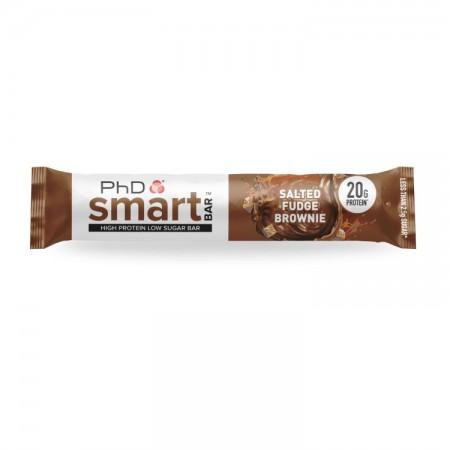 Phd Smart Salted Fudge Brownie Bar 12 x 64G