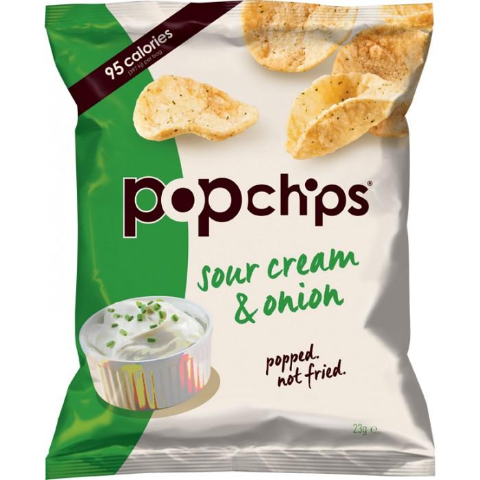 Popchips Sour Cream Amp Onion Popped Potato Chips 24 X 23g