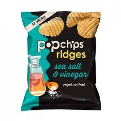 Popchips Ridges Sea Salt & Vinegar - Small Bags (24 x 23g)