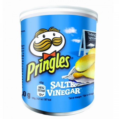 Pringles Salt & Vinegar - 12 x 40g