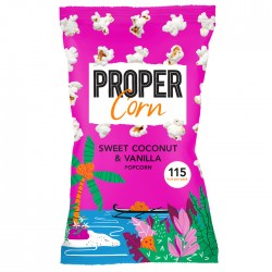 Propercorn Sweet Coconut & Vanilla Popcorn 24 x 20g