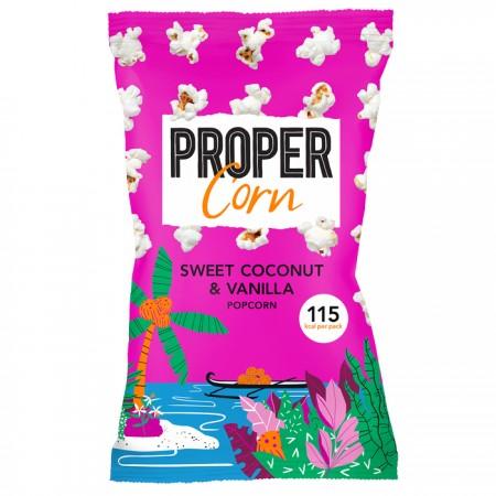 Propercorn Popcorn - Sweet Coconut & Vanilla (25g)