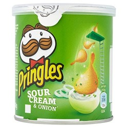 Pringles Sour Cream & Onion Crisps 12 x 40g