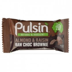 Pulsin Almond & Raisin Raw Choc Brownie Snack 18 x 50g