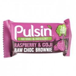 Pulsin Raspberry & Gogi Raw Choc Brownie 18 x 50g