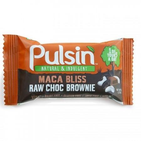 Pulsin Maca Bliss Raw Choc Brownie Snack 18 x 50g