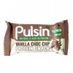Pulsin Vanilla Choc Chip Snack 18 x 50g