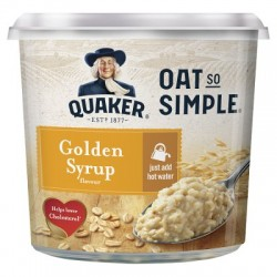 Quaker Oat So Simple Golden Syrup Porridge Pot - 8 x 45g
