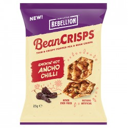 Rebellion - Bean Crisps Smokin Hot Ancho Chilli - 18 x 23g