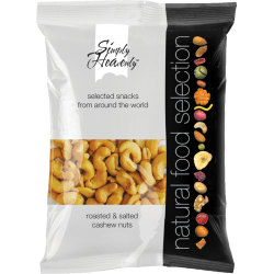 Simply Heavenly Roasted & Salted Cashews 12 x 75g