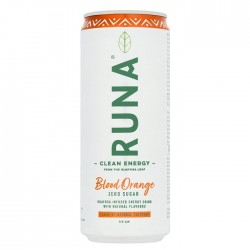 Runa Natural Energy Drink | Bloddy Orange Flavour - 12 x 330ml