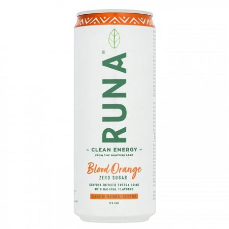 Runa Natural Energy Drink   Bloddy Orange Flavour - 12 x 330ml