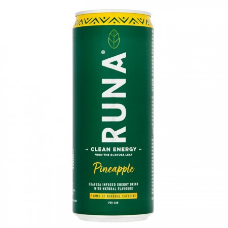 Runa Natural Energy Drink | Flavour Pineapple - 12 x 330ml