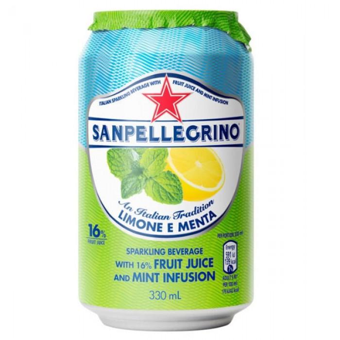 San Pellegrino Limone E Menta Lemon Amp Mint 24 X 330ml