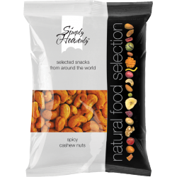 Simply Heavenly Nuts Spicy Cashews 12 x 50g