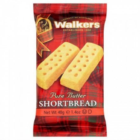 Walkers Pure Butter Shortbread Fingers 24 x 40g