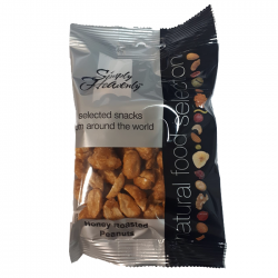 Simply Heavenly Nuts Honey Roasted Peanuts 12 x 40g