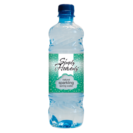 Simply Heavenly Natural Sparkling Spring Water 24 x 500ml