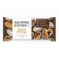 Squirrel Sisters Raw Energy Bar | Cocoa Orange 16 x 40g